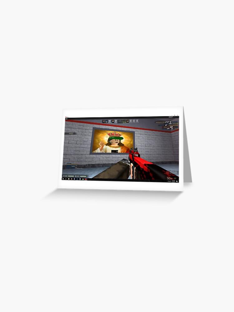 Robot Blocks Roblox Sniper Counter Strike Screenshot   Greeting Card