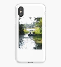 paddle boat iPhone Case