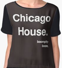 Chicago House - Boompity-boom Chiffon Top