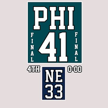 SCORE PHI 41 NE 33 FINAL T-SHIRT  by Tetete