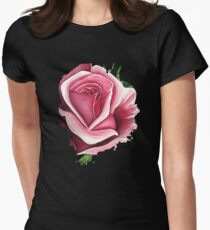 Pink Rose Women's Fitted T-Shirt