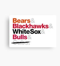 Chicago Sports Teams White Sox Canvas Print