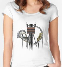 Thrilling Coaster Trio - Nemesis, The Smiler and Oblivion Design Women's Fitted Scoop T-Shirt