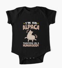 I'm An Alpaca Trapped In A Human Body One Piece - Short Sleeve