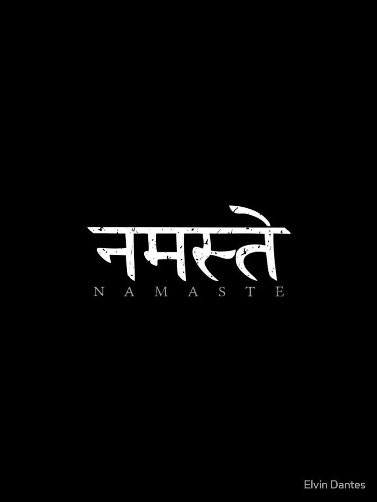 Namaste (Sanskrit written in Devanagari) by elvindantes