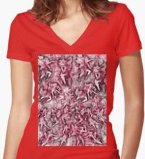 Pink Fairyland Women's Fitted V-Neck T-Shirt