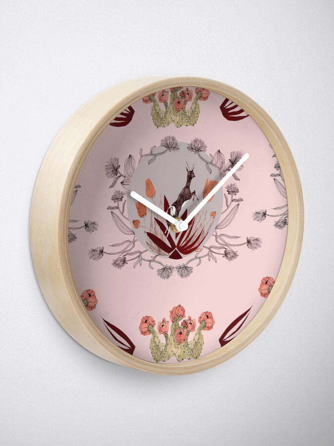 Alternate view of Blooming desert. Clock