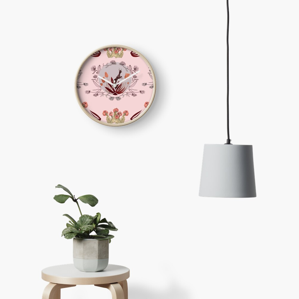 Blooming desert. Clock