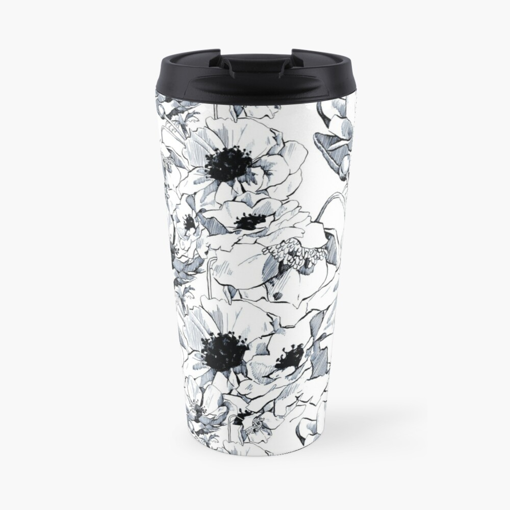 blue poppies Travel Mug