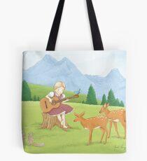 Musical Girl Tote Bag