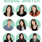 Best of Maggie's looks - minimalist poster by dolphinvera
