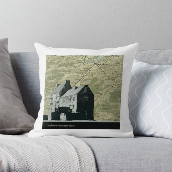 Outlander Location Lallybroch  Throw Pillow