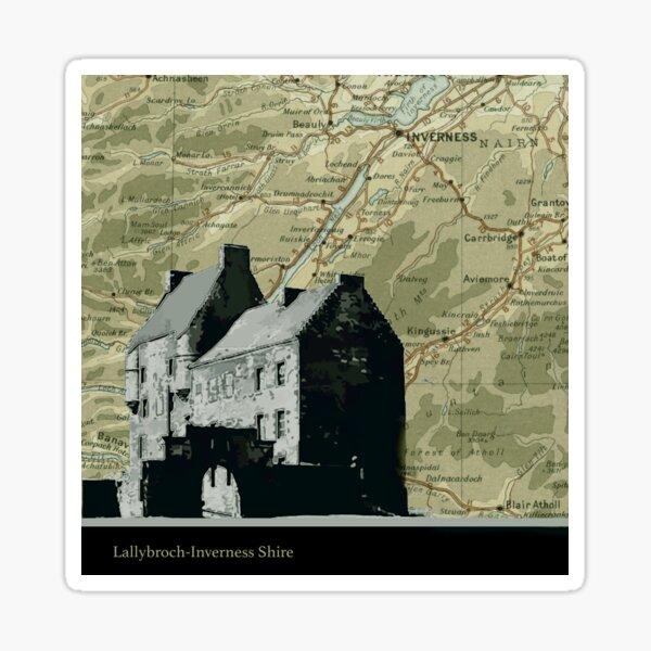 Outlander Location Lallybroch  Sticker