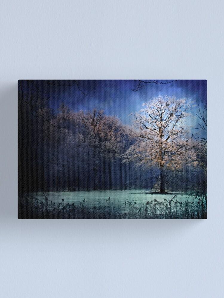 Alternate view of My blue tree Canvas Print