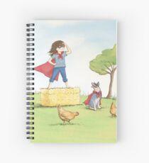 Girl in Cape Spiral Notebook