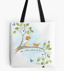 The safest place to be... Tote Bag