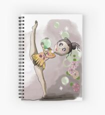 gymnast with ball Spiral Notebook