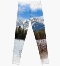 Scenic Cascade Mountain - Banff Alberta Leggings