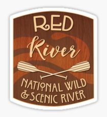 Red River, National Wild and Scenic River Sticker