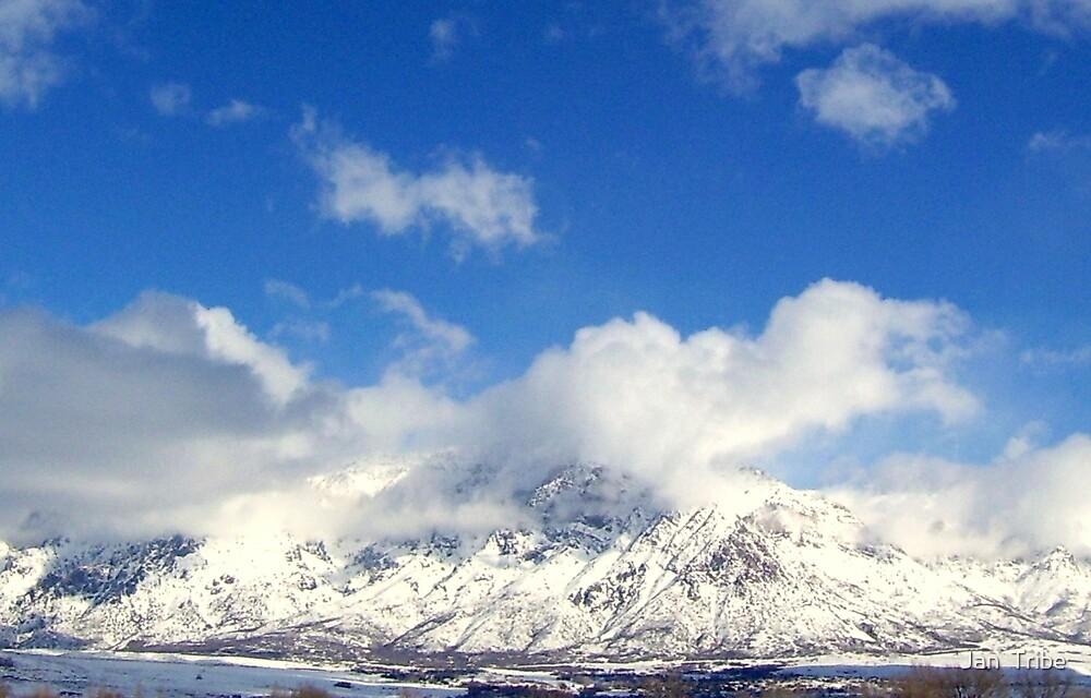 Cloud play along Mount Ben Lomond  by Jan  Tribe