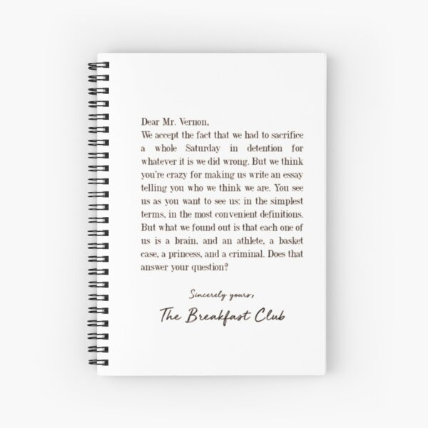 The Breakfast Club  Spiral Notebook