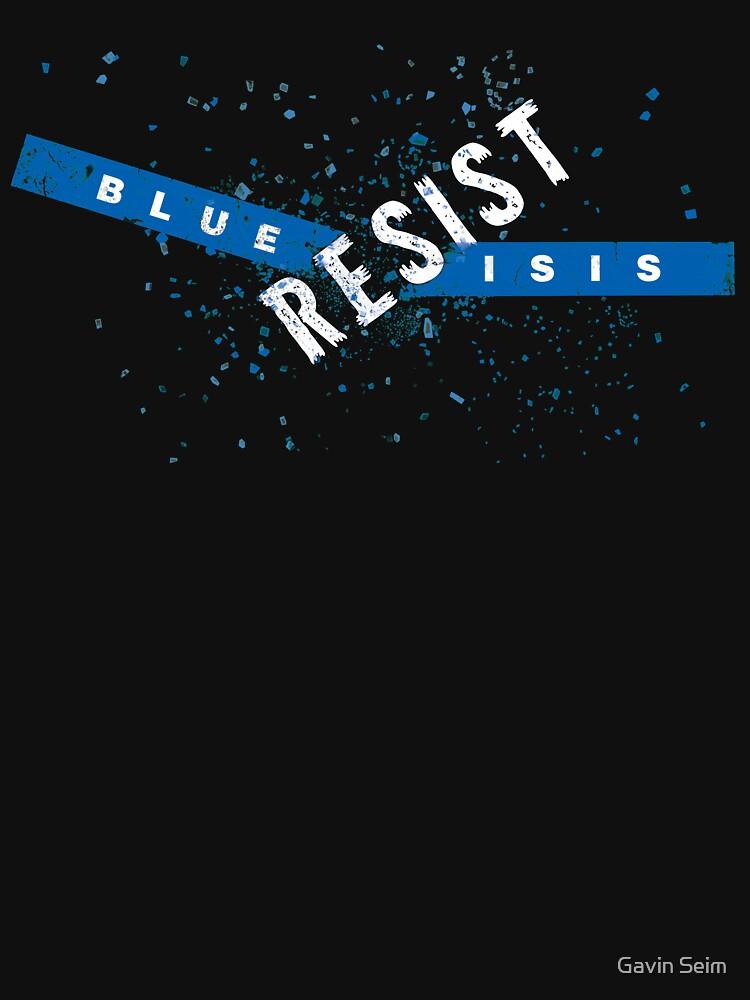 Resist Blue ISIS by gavinseim