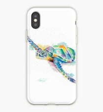 Rainbow Ripple Sea Turutle iPhone Case