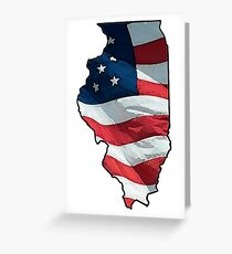 Patriotic Illinois Greeting Card