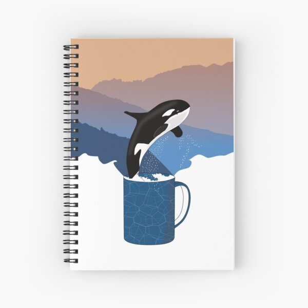Whale in a cup Spiral Notebook