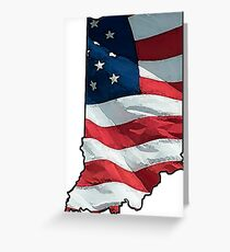Patriotic Indiana Greeting Card