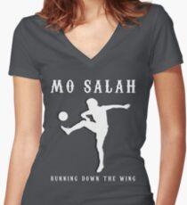 Mo Salah Design - Liverpool LFC Fan Gift Women's Fitted V-Neck T-Shirt
