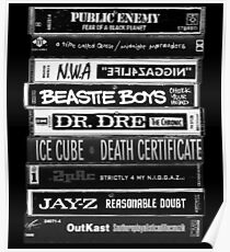 1990s Hip Hop Classic Cassette Tapes  Poster