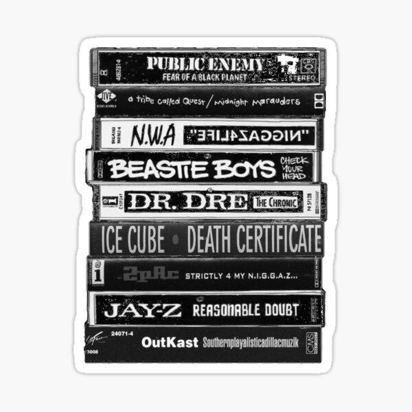 1990s Hip Hop Classic Cassette Tapes  Sticker