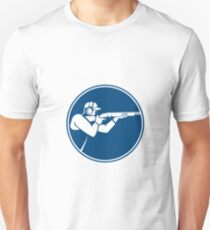 Trap Shooting Shotgun Circle Icon T-Shirt