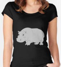 Camiseta entallada de cuello ancho Hippo
