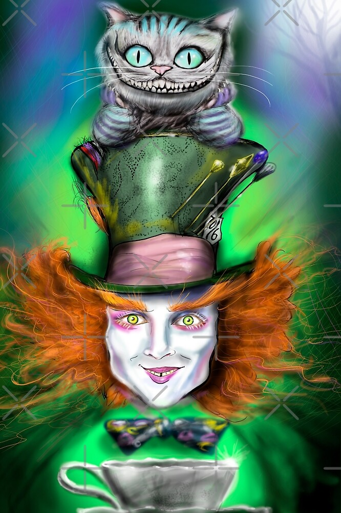 Quot Cheshire Cat Amp Mad Hatter Alice In Wonderland Quot By Ryan