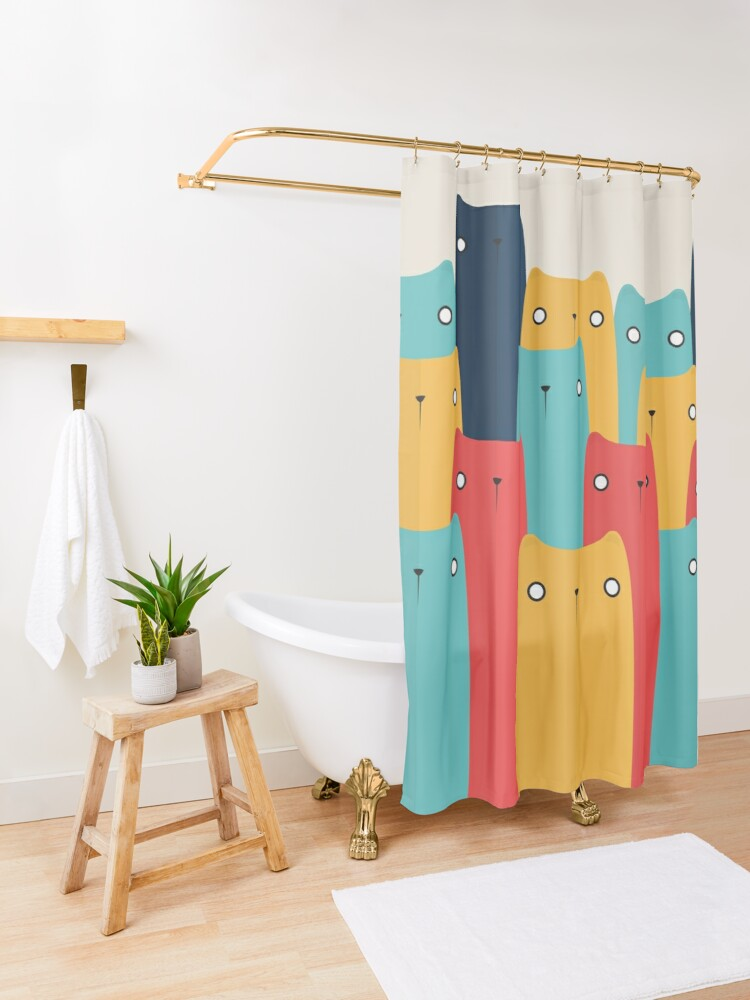 Alternate view of Cats Shower Curtain