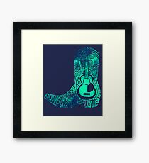 Cowboy Boot Framed Print