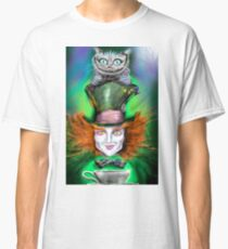 Cheshire Cat & Mad Hatter Alice in Wonderland Classic T-Shirt