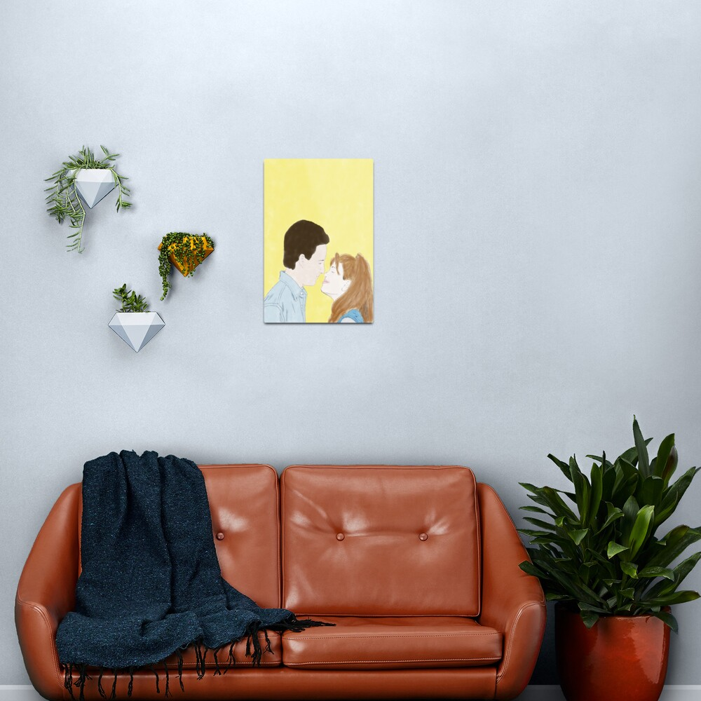 BOY MEETS WORLD (Cory & Topanga) - Watercolor Metal Print