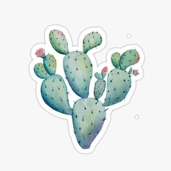 Prickly Pear Watercolor Desert Cactus Sticker