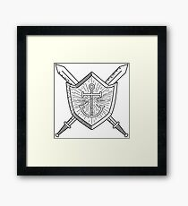 Sword & Shield Framed Print