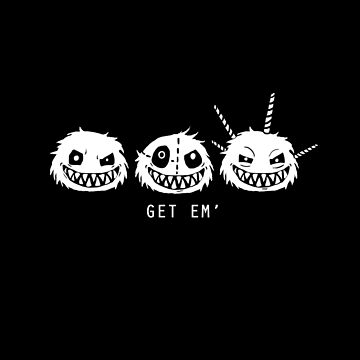 Fuzzle Get Em' Outlined Tee by joshyautumn