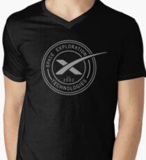 Spacex Shirt Grey Circle Logo Spacex Elon Musk Men's V-Neck T-Shirt