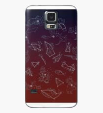Nacht in den Waldaufstellungen Hülle & Klebefolie für Samsung Galaxy