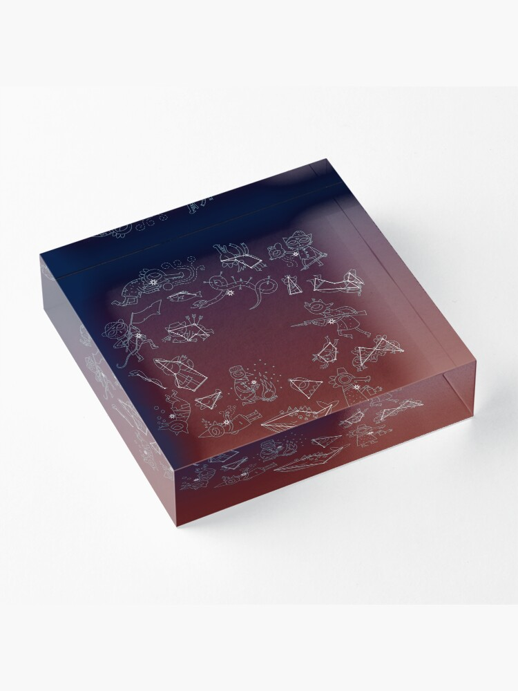 Alternate view of Night in the Woods Constellations Acrylic Block
