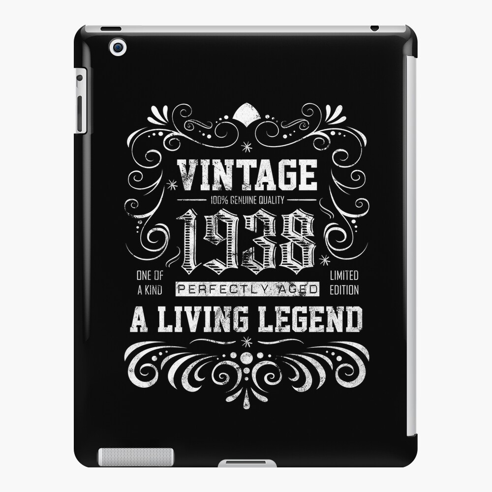 343ad236722bb 1938 Birthday Present - 80 Years Old 80th Birthday Gift | iPad Case & Skin