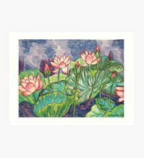 Lotuses I Art Print