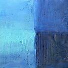 Morning into Night by the Sea Abstract Acrylic Painting by Heatherian