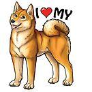 Shiba Love by aunumwolf42